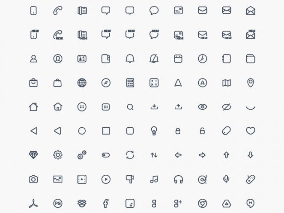 Compacticons - 180 PSD tiny icons