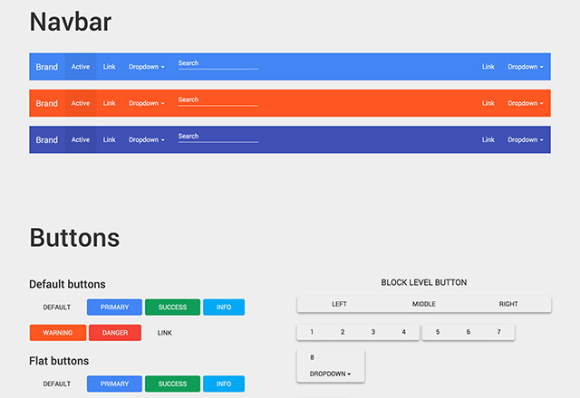 Google Material Design For Bootstrap Freebiesbug