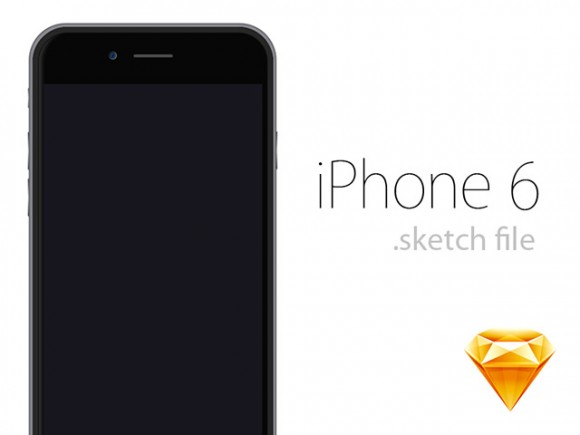 iPhone 6 mockup - Sketch
