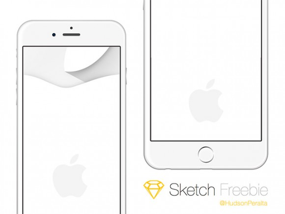 iPhone 6 & 6 Plus mockups - Sketch