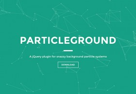 Particleground - Particle backgrounds with jQuery
