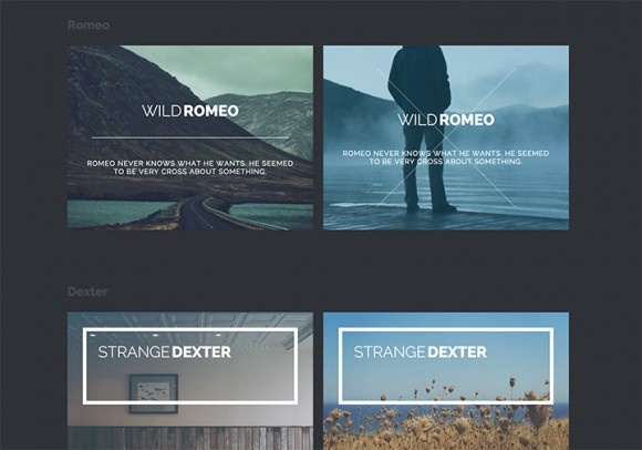 New subtle hover effects with CSS3