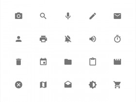 Google Material Design icons - SVG PNG CSS