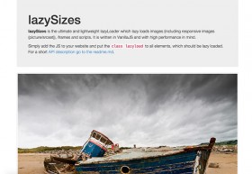 lazySizes - Lazy load JS plugin