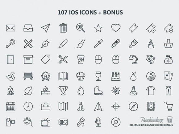 100+ free PSD icons for iOS [+ bonus] by Icons8