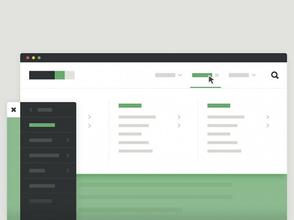 Mega-Site Navigation with CSS and JS