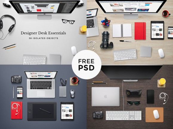 Designer desk essentials - PSD