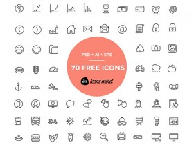 70 free PSD icons by iconsmind