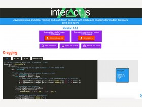 Interact.js - Plugin for drag and drop, resizing, etc