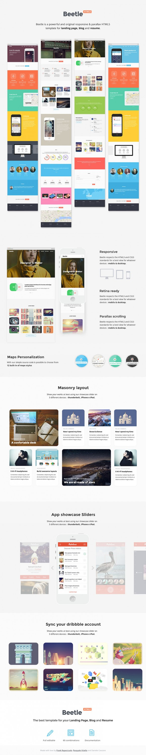 Beetle Html5 Template For Designers Freebiesbug