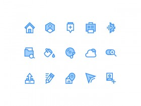 15 icons for web - PSD + AI + EPS