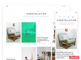 Free PSD template for Tumblr
