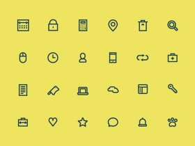 24 tiny icons - PSD
