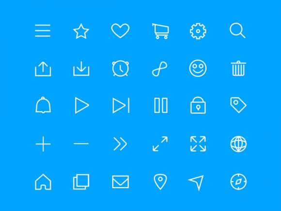 Minimal line icon set for Sketch