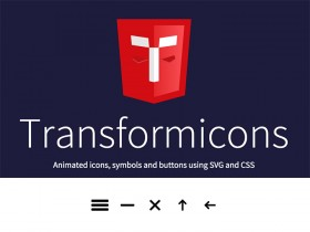 Transformicons - Animated SVG icons