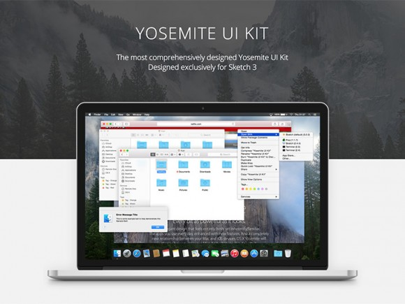 Yosemite UI kit - Sketch
