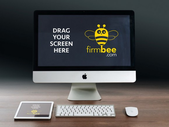 Apple devices mockups on Firmbee