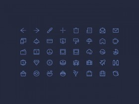 50 PSD line icons - Vol.2