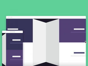 3D folding panel in CSS