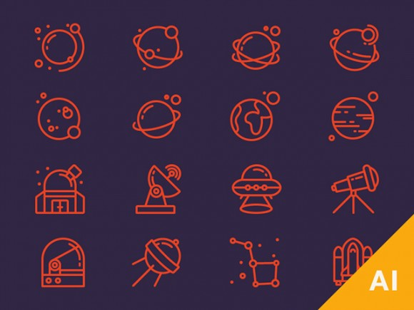 16 Ai space icons