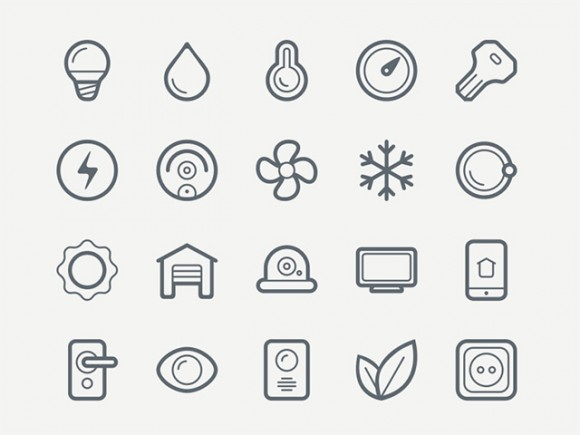 40 smart house icons