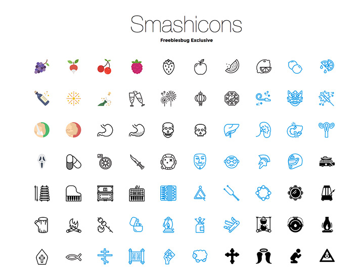 250 free icons from smashicons