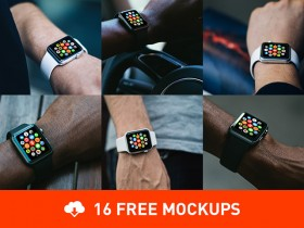 16 photorealistic Apple Watch mockups