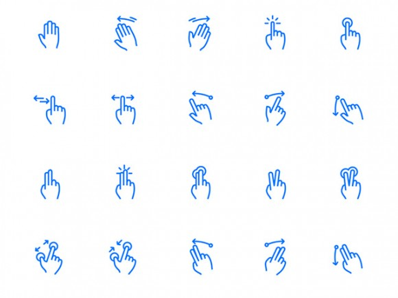 100 gesture and fingerprints icons