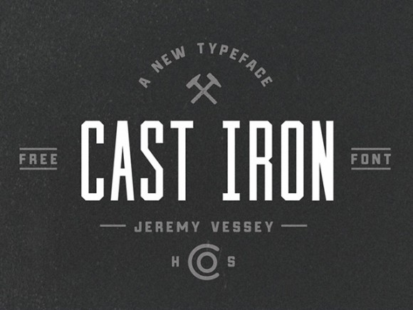 Cast Iron Free Font Freebiesbug