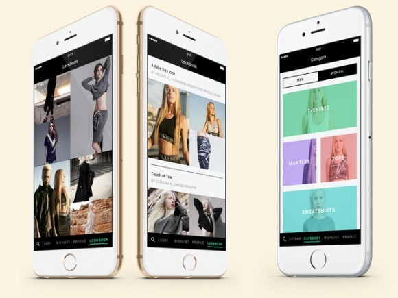 Fashion - App UI kit for Sketch