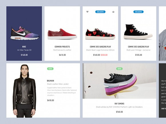 Ecommerce PSD UI blocks