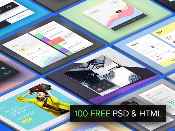 100 Free PSD & HTML resources