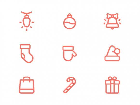 9 Free PSD Christmas icons