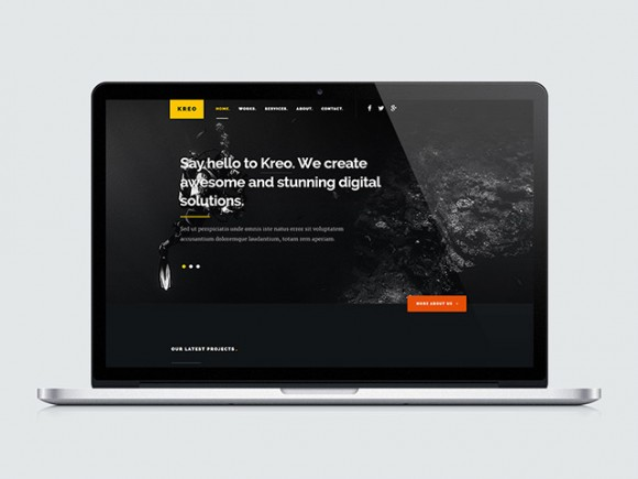 Kreo - Free HTML website template