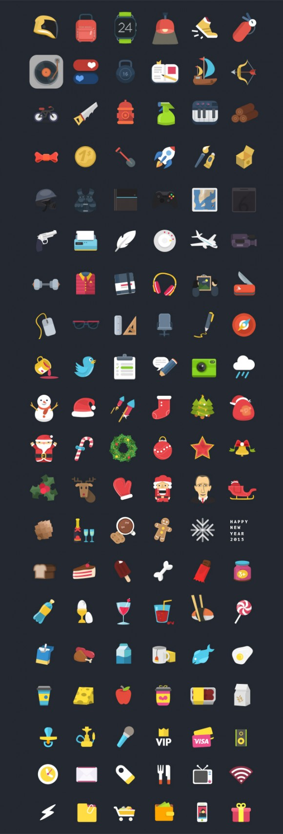 120+ Free PSD colourful icons - Full image