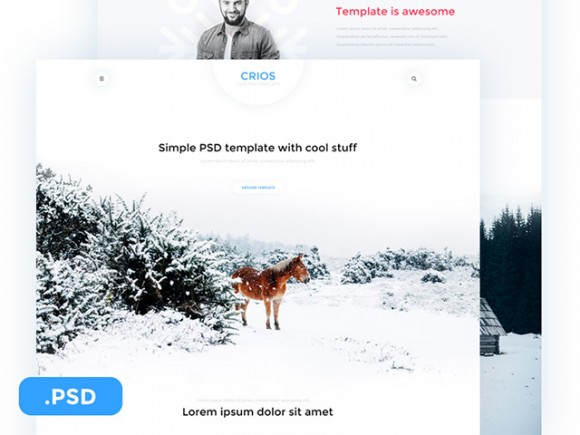 Crios - Free PSD website template