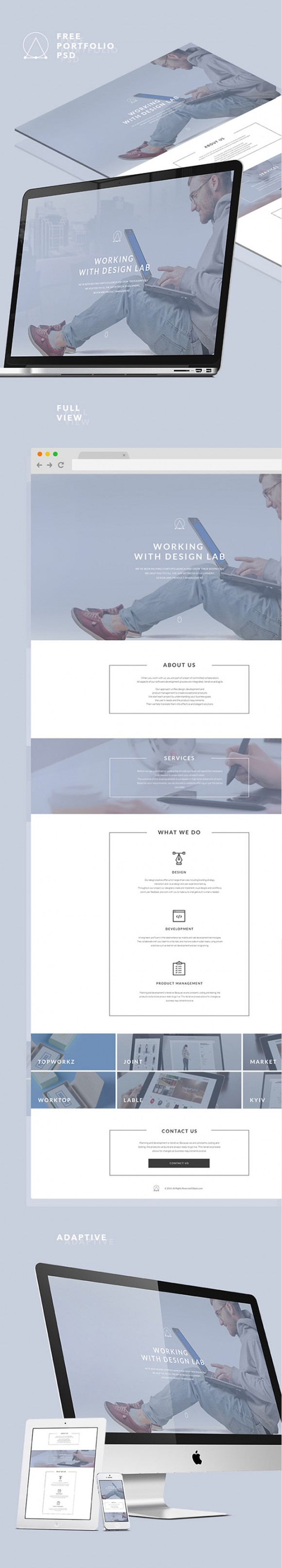 Elipsis portfolio template - Full view