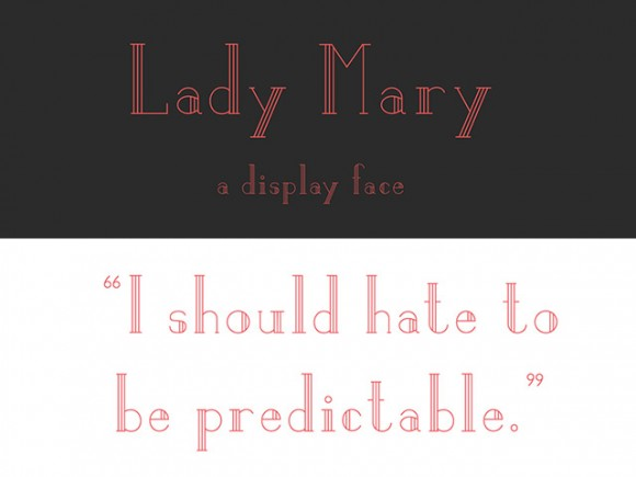 Lady Mary free font