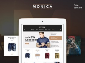 Monica - Free PSD UI kit for ecommerce