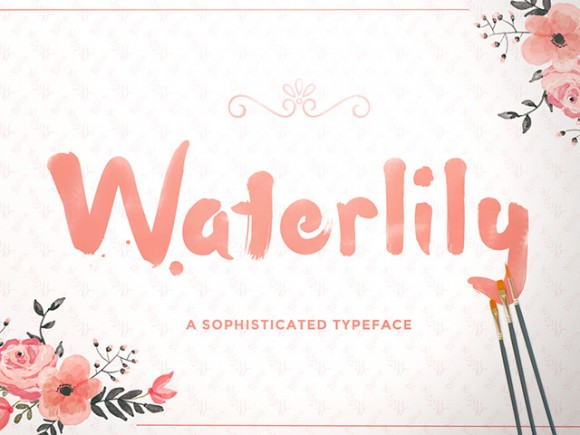 Waterlily free font