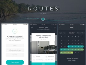 Routes UI kit for iOS - Sample pack