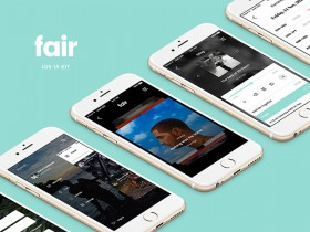 Fair Mobile UI Kit: 8 free app screens (Sketch, PSD)