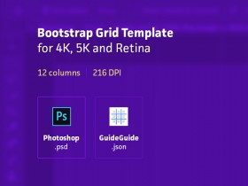 Bootstrap grid template for Photoshop