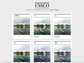 CSSCO: CSS filters inspired by VSCO