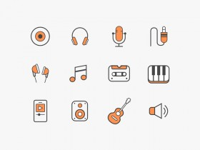 12 free music icons (Sketch + Ai)