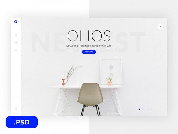 Olios: Free ecommerce PSD template