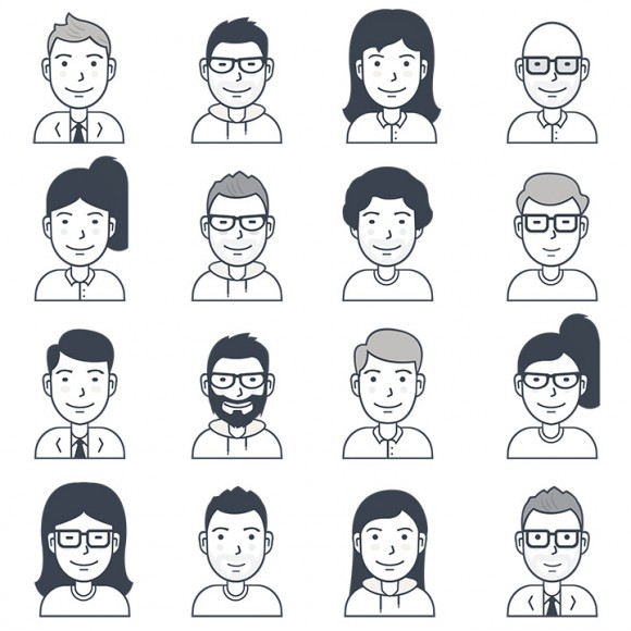 16 Free vector user avatar icons - Full image