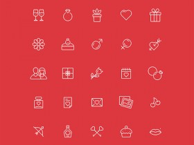 30 free Ai Valentine's Day icons