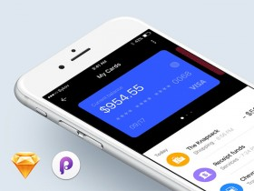 Wallet app concept for Sketch and Principle