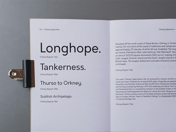 Orkney: A geometric open source typeface